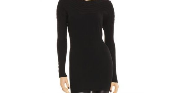 pull noir long femme