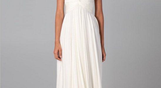 robe blanche longue pas cher