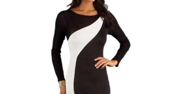 robe courte a manche longue