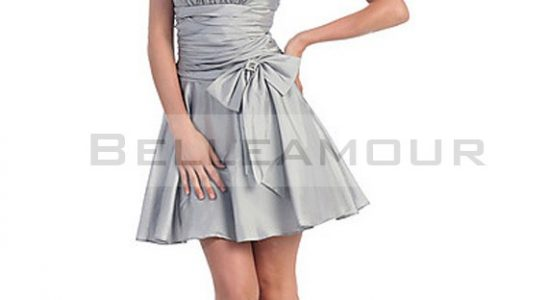 robe courte grise
