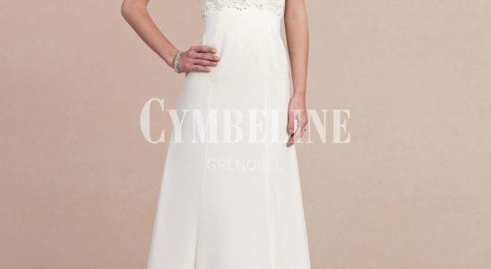 robe dentelle longue blanche