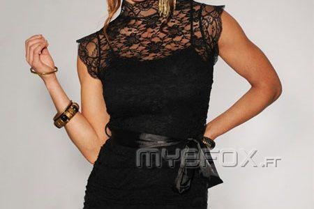 robe dentelle noire pas chere