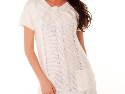 robe laine blanche