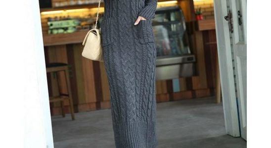 robe laine longue