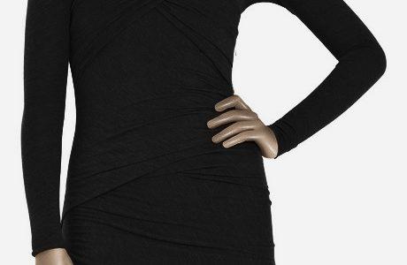 robe laine noire