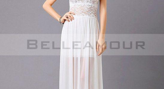 robe longue blanche pas cher