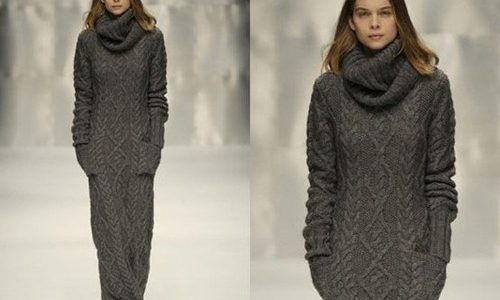 robe longue laine