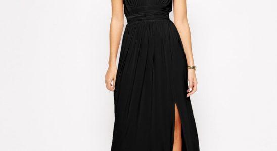 robe longue noir simple