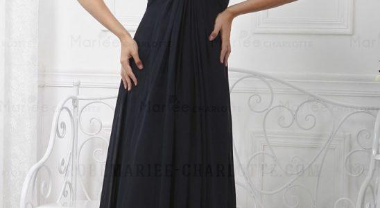 robe longue noire pas cher soiree
