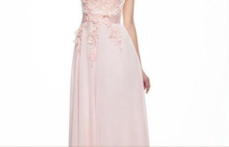 robe longue rose pale