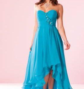 robe longue turquoise pas cher
