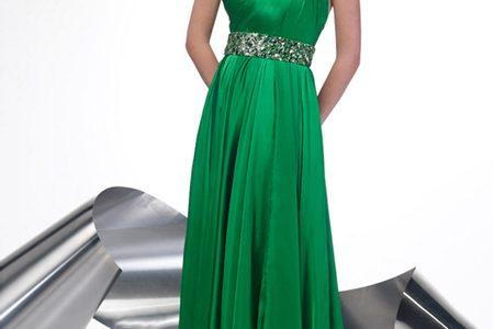 robe longue verte pas cher