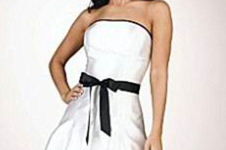 robe noire et blanche pas cher