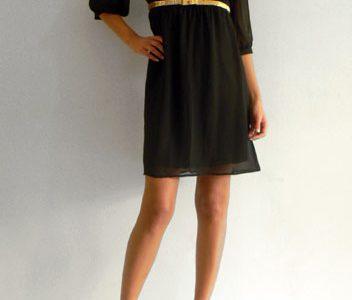 robe noire fluide