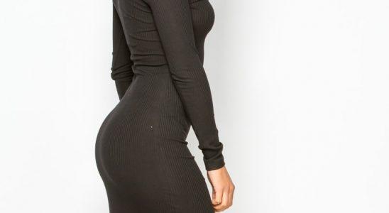 robe noire manche longue pas cher
