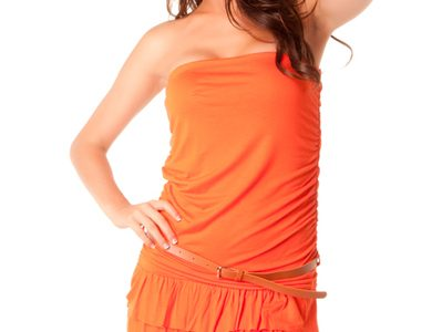 robe orange pas cher