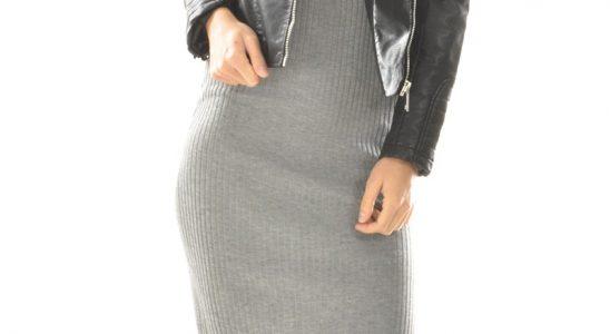 robe pull long femme