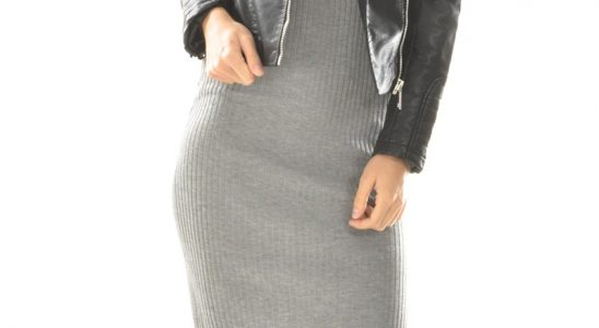 robe pull longue femme