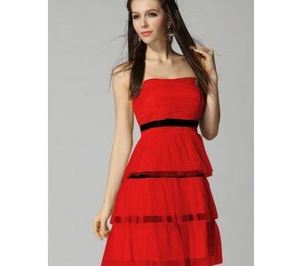 robe rouge et noir pas cher