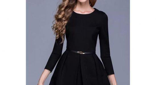 robe simple noir